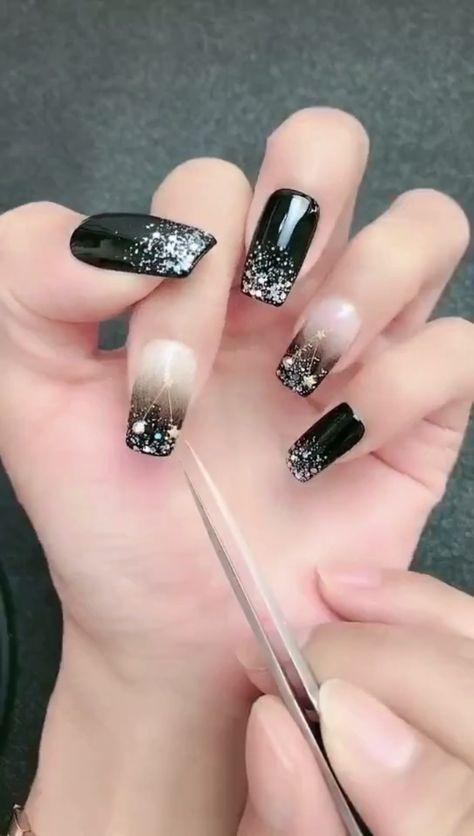 Simple nails art design video Tutorials Compilation Part 142