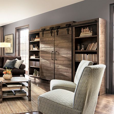 living room media center. Baumann Media Center  Arhaus Furniture Style Pinterest Living rooms Room and Sliding door