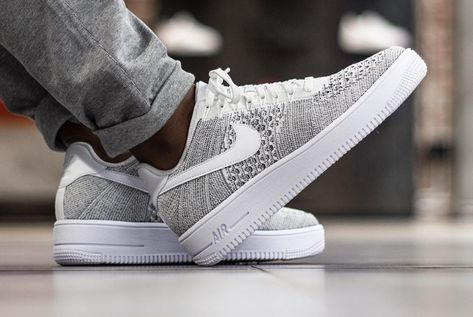 beauty official supplier fresh styles Chaussure Nike Air Force 1 Ultra Flyknit Low Gris Cool Grey ...