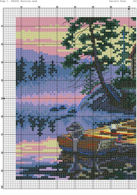 BELLISSIMO LAKE VIEW-cross stitch chart
