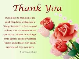 Image Result For Thank You Quotes For Birthday Wish Thank You