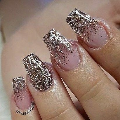 Tapered Square Nails. Glitter Nails. Acrylic Nails. Gel