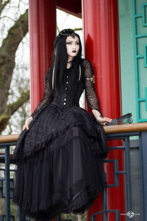 Model: Ella Amethyst Photo: Phoenix Photo Vision Dress: Sinister for: The Gothic Shop