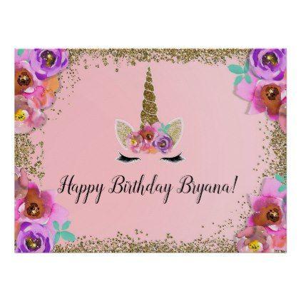 Banner Design For Birthday Girl
