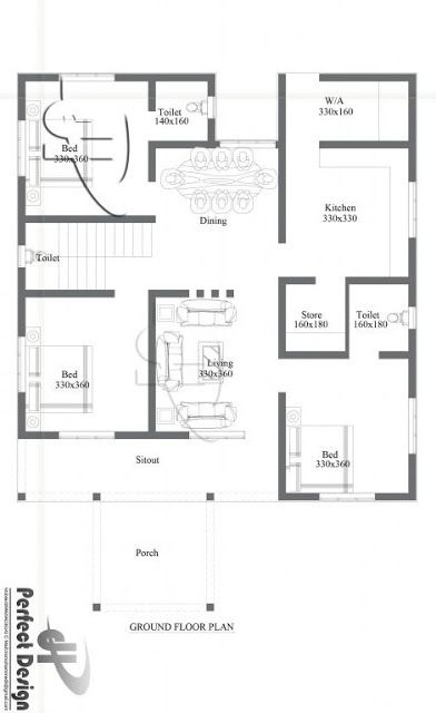 Simple And Beautiful Kerala Style 3 Bedroom House In 1153 Square