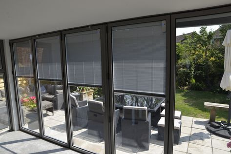 Integrated Bifold Door Blinds These