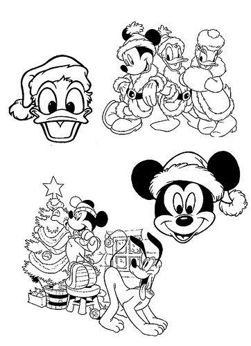 Navidad De Mickey Para Colorear Applique Patterns Mickey Mouse
