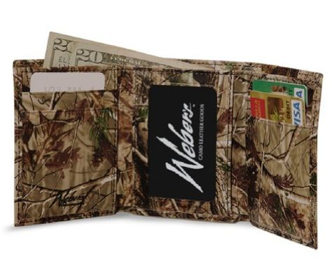 Realtree Leather Tri-Fold Wallet,  Mens All Purpose Up Camo Leather Wallet  Price : $39.97 http://www.camochique.com/Realtree-Leather-Tri-Fold-Purpose-Camo/dp/B00E3PNR30