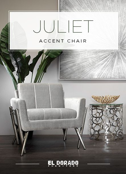 Juliet Gray Accent Chair Accent Chairs Grey Accent Chair Elegant Chair