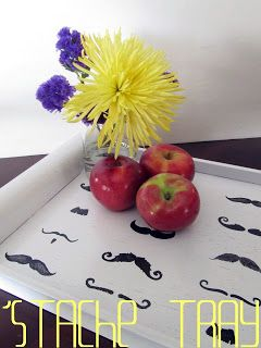 Mustache covered tray!