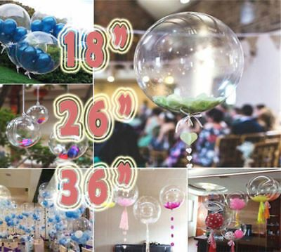 """CLEAR SEE THROUGH BALLOONS 18/"""" \ 36/"""" Large Helium Quality Wedding Decorations UK"""