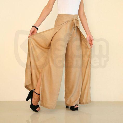 Rayon calça saia wrap around calças 100% 78 rayon cores-Vestidos & saias XL-ID do produto:126139742-portuguese.alibaba.com