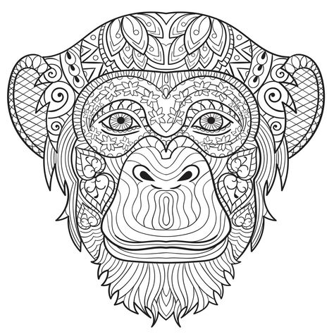 Free Adult Coloring Pages Creatively Calm Studios Monkey Coloring Pages Animal Coloring Books
