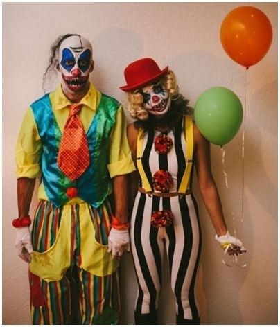 13 Ideas For Throwing The Creepiest Clown Themed Halloween Party Scary Clown Costume Scary Halloween Costumes Clown Costume