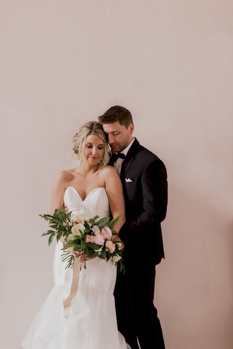 bride & groomsmen   Wedding dresses, Bride, Strapless