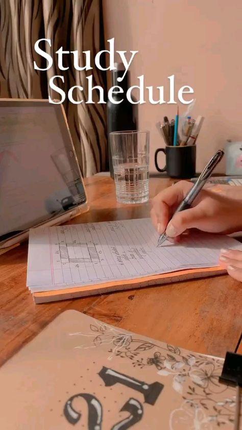 productive study schedule