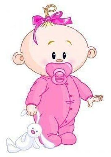 Adorables Dibujos De Bebes Para Baby Shower Para Decorar Dibujo Bebe Nina Arte Infantil Bebe Clipart