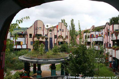 Hundertwasserhaus Plochingen vom Balkon