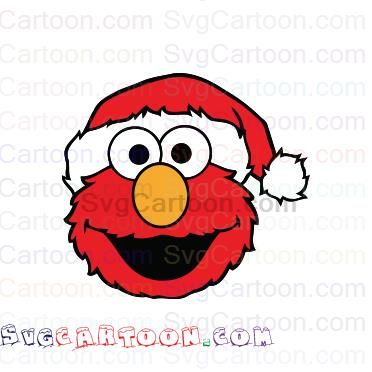 Elmo Face Christmas Hat Sesame Street Svg Dxf Eps Pdf Png Christmas Hat Elmo Elmo Christmas