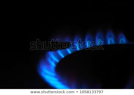 Gas Burner Closeup Blue Stove Flames On The Black Background Natural Gas Burning On The Range Hob Copy Space Gas Burners Burners Photo Editing