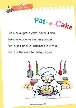 Nursery Rhyme Activities Pat A Cake Printables Nursery Rhymes