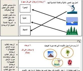 نماذج أسئلة علوم الفترة الثانية اول ابتدائي ف1 Map Map Screenshot