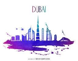 Resultado De Imagen Para Silueta De Dubai Skyline Drawing Skyline Silhouette Dubai Art