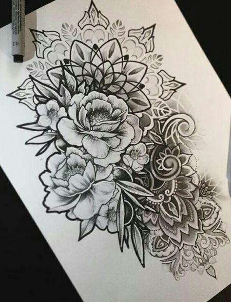 Super Drawing Flowers Tattoo Ideas Half Sleeves Ideas Half Mandala Tattoo Floral Tattoo Sleeve Flower Tattoo Sleeve