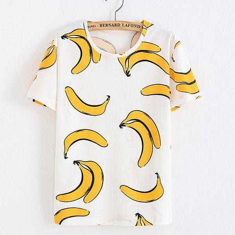 >> Click to Buy << 2016 New style banana t shirt women catton t shirt #Affiliate