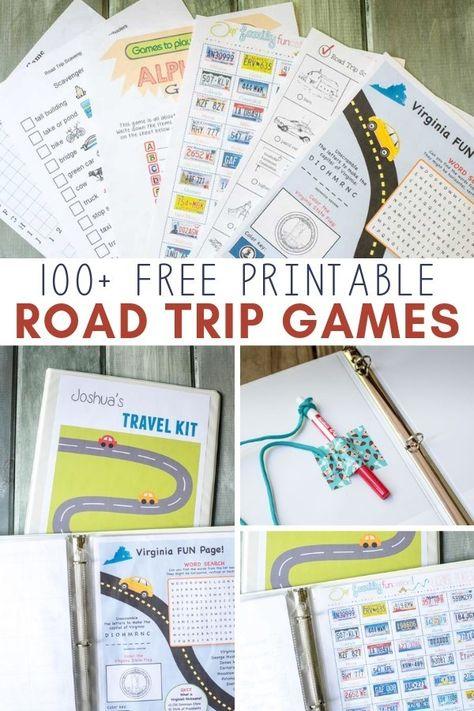 DIY Kids' Travel Binder + Free Printable Road Trip Games