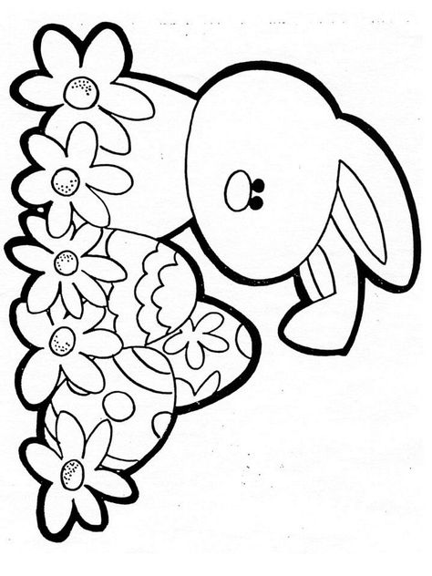 easter color sheet  coloriages  coloriage paques