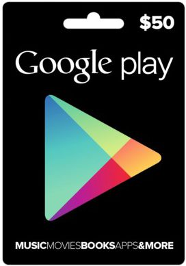 free real $50 free google play gift card
