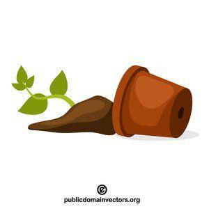 Broken pot vector clip art #publicdomain #vectorgraphics