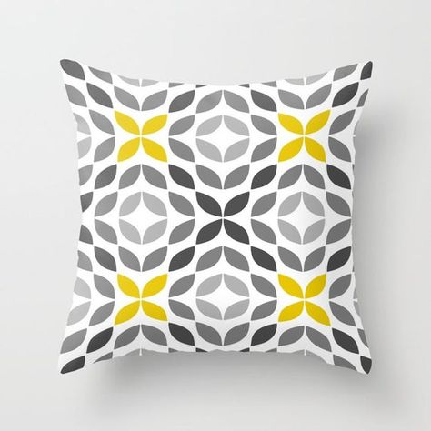 Throw Pillow Covers Yellow Grey White Couch Cushion Covers Image 6