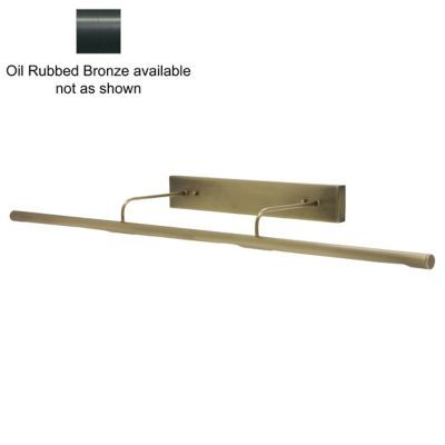 Direct Wire Slim Line Picture Light Bronze L Open Box By House
