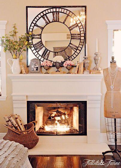 Fire place mantle decor