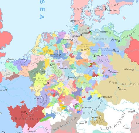 Europe And Surrounding Areas In The Year 1444 A D With Images