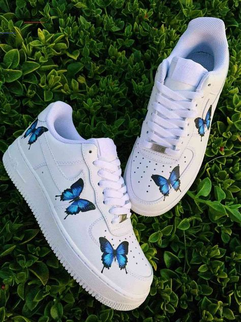 Blue Drip Butterfly AF1 - #sneakers