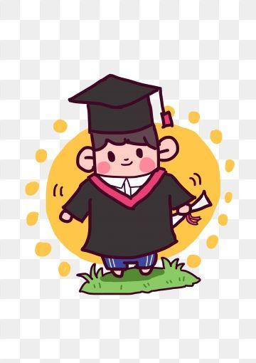 Graduation Season University Graduate Q Version, Cartoon