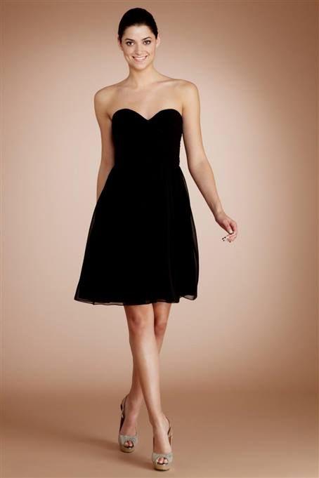 2018 Short Black Bridesmaids Dresses