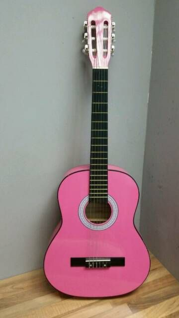 Pin By Nadia On Guitar In 2021 Pink Guitar Guitar Acoustic