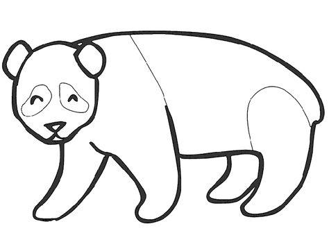 Panda Boyama Sayfasi Hayvan Boyama Sayfalari Hayvan Ve Boyama