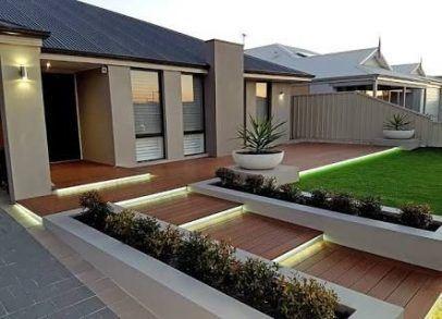 Landscaping Design Front Of House Australia 30 Ideas House Landscaping Amenagement Jardin Devant Maison Entree Maison Moderne Porche Entree Maison