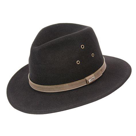 b91f6f0c503e3 Breckenridge Crushable Wool Hat