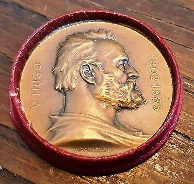 Antique Medal. Victor Hugo