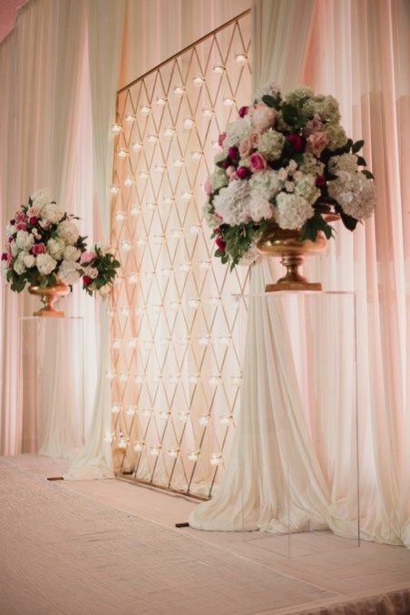 44 Unique & Stunning Wedding Backdrop Ideas (With images) | Rose ...