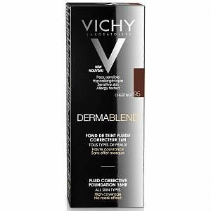 Vichy Dermablend Fluid Corrective Foundation 30ml Various Shades Chestnut 95 Acne Foundation Rosacea Rosaceare In 2020 Dermablend Vichy Paraben Free Products