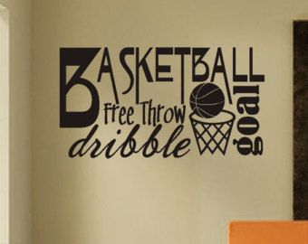 Vinyl Wall Lettering Sports Large Football Player by WallsThatTalk