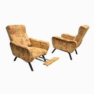 Terrific Vintage Italian Reclining Armchairs 1950S Set Of 2 Stuff Bralicious Painted Fabric Chair Ideas Braliciousco