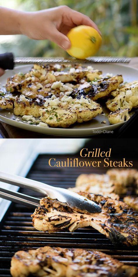Vegetarian Grilled Cauliflower Steaks